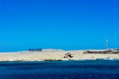 A ilha do paraíso perto de Hurghada foto de stock royalty free
