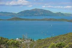 Ilha do ponto de vista da cidade Nova Caledônia de Noumea Fotos de Stock Royalty Free