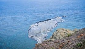 A ilha do qui-mei é ilhas de Taiwan a pouca distância do mar em penghu Há um ` do cenário pouco ` de Taiwan foto de stock