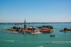Ilha do ` s de San Giorgio Maggiore de Veneza Foto de Stock