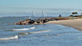 Ilha do ` s de Sullivan, South Carolina fotografia de stock