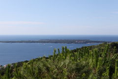 Ilha do Sainte-Marguerite em riviera francês Fotos de Stock