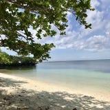Ilha do siquijor da praia de Paliton imagem de stock