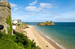 Ilha do St Catherine em Tenby, Pembrokeshire – Gales, Reino Unido foto de stock royalty free