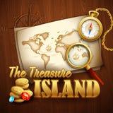 Ilha do tesouro Molde do vetor Fotografia de Stock
