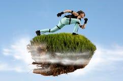 Ilha do voo Realidade virtual do subtítulo do movimento fotos de stock royalty free