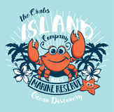 A ilha dos caranguejos caçoa a descoberta do oceano Fotografia de Stock Royalty Free