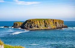 Ilha dos carneiros em Irlanda do Norte, Reino Unido Imagens de Stock