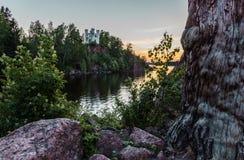 Ilha dos mortos Vyborg, Rússia fotos de stock