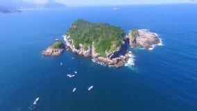 Ilha e barcos Foto de Stock