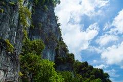 Ilha e céu da paisagem fotografia de stock