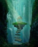 Ilha e miradouro de flutuação Foto de Stock Royalty Free