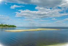 Ilha escondida em Kamyshin foto de stock