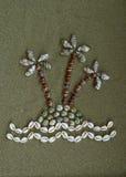 Ilha feita dos shell Imagens de Stock Royalty Free
