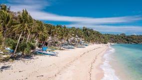 Ilha Filipinas Paradise tropical de Boracay da praia de IligIligan fotografia de stock