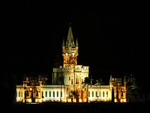 Ilha Fiscal Palace night scene stock images