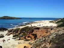 Ilha font Pessegueiro, Portugal Images stock