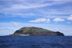 Ilha gör den Corvo Corvo ön Azores Royaltyfria Bilder
