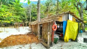 Ilha grande boat shed Royalty Free Stock Images
