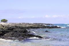 Ilha grande Havaí do litoral de Kona Fotos de Stock