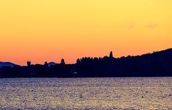 Ilha grande no lago Trasimeno fotografia de stock