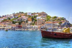 Ilha grega bonita, Hydra Imagem de Stock