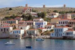 A ilha grega Chalki imagem de stock royalty free