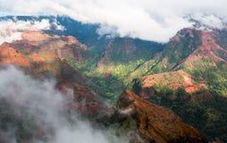 Ilha Havaí de Kauai da garganta de Waimea Fotos de Stock Royalty Free
