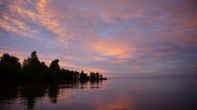 Ilha ideal no mar Imagem de Stock