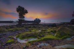 Ilha Indonésia Ásia de Batam do por do sol de Wonderfull Imagem de Stock