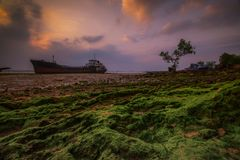 Ilha Indonésia Ásia de Wonderfull Sunset3 Batam Fotografia de Stock Royalty Free