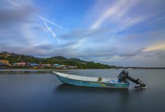 Ilha Indonésia de Batam do barco de pesca Imagens de Stock