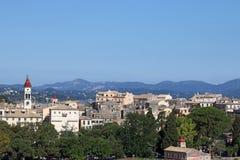 Ilha Ionian da arquitetura da cidade da cidade de Corfu Fotos de Stock Royalty Free