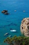 Ilha Itália de Costa Paradiso Sardinia da praia de Li Cossi Foto de Stock Royalty Free