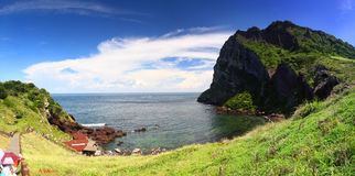 Ilha máxima de Jeju do nascer do sol Fotos de Stock Royalty Free