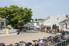 Ilha Main Street de Mackinac fotografia de stock royalty free