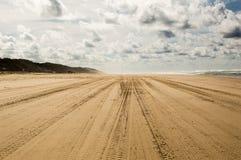 A ilha a maior da areia no mundo Imagens de Stock