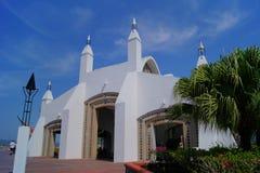 Ilha Malásia de Langkawi da mesquita do porto Foto de Stock
