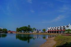 Ilha Malásia de Langkawi da mesquita do porto Imagem de Stock