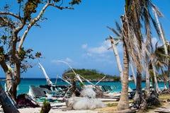 Ilha Malapascua após o tufão, Filipinas fotografia de stock