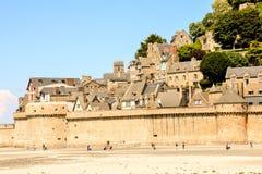 Ilha maré Normandy França do norte do Le Mont Saint-Michel fotografia de stock