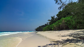Ilha não habitada Imagem de Stock