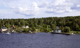 Ilha no arquipélago de Éstocolmo Fotografia de Stock