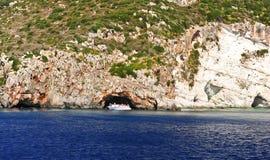 Ilha no mar Ionian, Zakynthos Imagem de Stock
