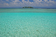 Ilha no meio do nada Foto de Stock