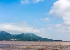 Ilha no oceano Foto de Stock