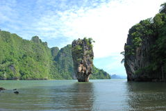 Ilha no oceano do andaman Imagens de Stock Royalty Free