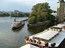 Ilha no rio de Vltava em Praga Fotos de Stock Royalty Free
