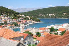 Ilha no verão, Croácia de Brac fotos de stock
