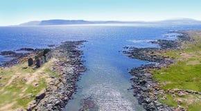 Ilha Oceano Atlântico Antrim Irlanda do Norte de Rathlin fotos de stock royalty free